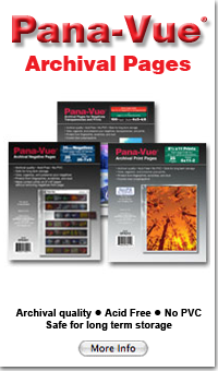 PanaVue Archival Sheets